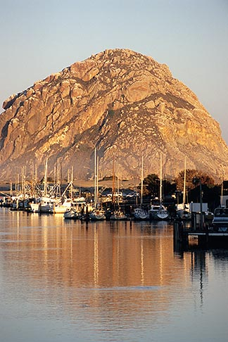 image 6-470-36 California, Morro Bay, Morro Rock and Harbor