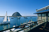 blue sky stock photography | California, Morro Bay, Waterfront restaurant, Window on the Water, image id 6-471-63