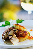 us stock photography | California, Mendocino , MacCallum House, Scallops and Porcini Muschrooms, image id 6-485-93