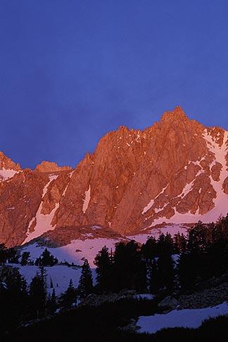 image 7-267-37 California, Mt Whitney, Sunrise on Sierra Crest