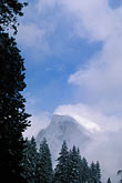 sunlight stock photography | California, Yosemite National Park, Half Dome in winter, image id 7-583-24