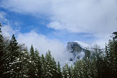 way out stock photography | California, Yosemite National Park, Half Dome in winter, image id 7-583-9
