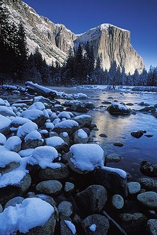 image 7-587-1 California, Yosemite National Park, El Capitan and Merced River in winter