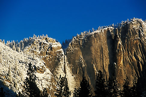 image 7-587-14 Travel Landscape scenic, California, Yosemite park, Yosemite Falls in winter