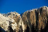 peak stock photography | California, Yosemite National Park, Yosemite Falls in winter, image id 7-587-14