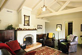 fireplace stock photography | California, Santa Cruz, The Adobe on Green Street, Living Room, image id 7-600-36