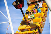 horizontal stock photography | California, Santa Cruz, Santa Cruz Beach Boardwalk, Pirate Ship ride, image id 7-601-66