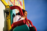 young girl stock photography | California, Santa Cruz, Santa Cruz Beach Boardwalk, Double Shot ride, image id 7-601-93