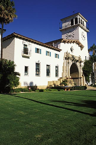 image 9-575-26 California, Santa Barbara, County Courthouse