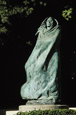image 9-576-44 California, Santa Barbara, Statue, Native American Woman