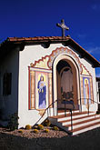 painted door stock photography | California, Santa Barbara, Mount Calvary Monastery, image id 9-576-66