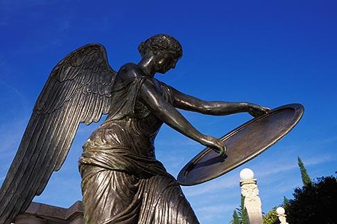 image 9-601-7 California, Hearst Castle, Statue on Terrace