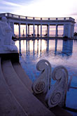 twilight stock photography | California, Hearst Castle, Neptune Pool Colonnade, image id 9-602-35