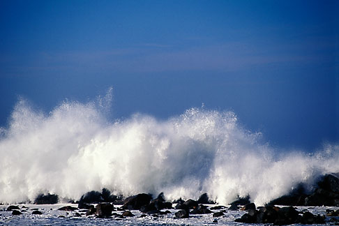 image 9-609-8 California, San Luis Obispo County, Heavy surf, Morro Bay