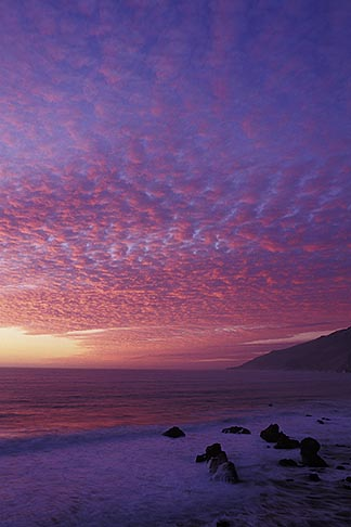 image 9-609-88 California, Big Sur, Sunset, Kirk Creek, Lucia