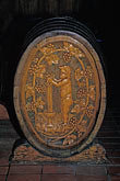 wine barrel stock photography | California, Napa Valley, Carved wooden wine barrel, image id E-2-3