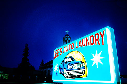 image S2-20-999 California, Oakland, Car wash sign