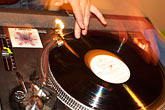 disc jockey stock photography | California, Oakland, Spinning Records, image id S3-202-17
