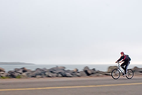 image S5-144-1283 California, Berkeley, Bicyclist