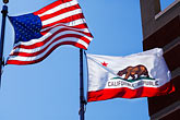 bear state stock photography | Flags, American and California Flags, image id S5-145-45