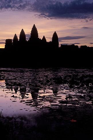 image 0-400-10 Cambodia, Angkor Wat, Dawn at Angkor Wat