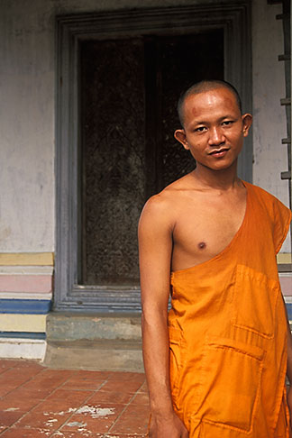 image 0-400-73 Cambodia, Angkor Wat, Buddhist monk