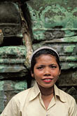 smiling woman stock photography | Cambodia, Angkor Wat, Cambodian guide, Ta Prohm, image id 0-401-37