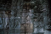 asian art stock photography | Cambodia, Angkor Wat, Carved relief, Angkor Thom, image id 0-401-43