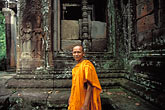 landmark stock photography | Cambodia, Angkor Wat, Buddhist monk, image id 0-402-20