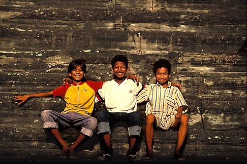 image 0-402-23 Cambodia, Angkor Wat, Young boys