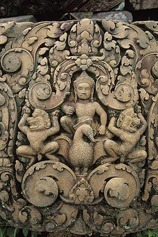 image 0-402-35 Cambodia, Angkor Wat, Carved relief, Angkor Thom
