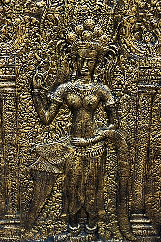image S3-205-2 Cambodia, Phnom Penh, Royal palace, relief detail
