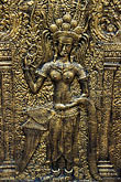 apsara stock photography | Cambodia, Phnom Penh, Royal palace, relief detail, image id S3-205-2