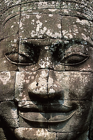 image S3-205-43 Cambodia, Siem Reap, Bayon Temple, carved relief