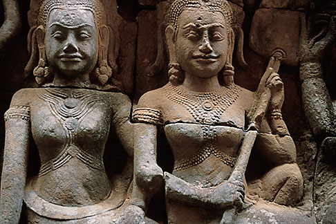 image S3-205-45 Cambodia, Siem Reap, Terrace of the Leper King