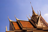 horizontal stock photography | Cambodia, Phnom Penh, Royal palace, Roof of Throne Hall, image id S3-205-6