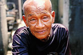 wat stock photography | Cambodia, Siem Reap, Old man, image id S3-205-60