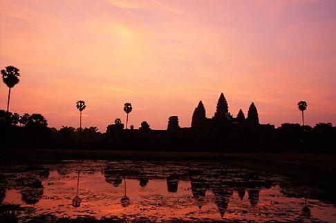 image S3-205-9 Cambodia, Siem Reap, Sunrise, Angkor Wat