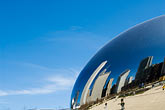 domed stock photography | Illinois, Chicago, Millennium Park reflecting sculpture , image id 6-435-4733