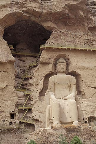 image 4-132-27 China, Gansu Province, Statue of Maitreya Buddha, Bingling si Grottoes