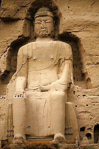 image 4-135-27 China, Gansu Province, Statue of Maitreya Buddha, Bingling si Grottoes