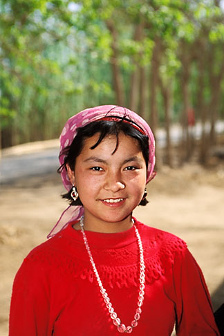 image 4-147-5 China, Turpan, Young Uighur girl