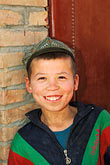smile stock photography | China, Turpan, Uighur boy, image id 4-147-57