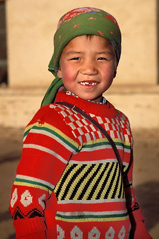 image 4-155-23 China, Turpan, Uighur girl