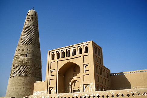 image 4-156-33 China, Turpan, Emin minaret and mosque, built in 1778