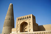 in the desert stock photography | China, Turpan, Emin minaret and mosque, built in 1778, image id 4-156-33