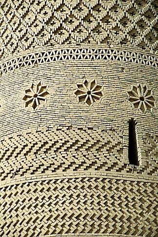 image 4-158-22 China, Turpan, Brickwork on tower of Emin minaret