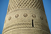 detail stock photography | China, Turpan, Brickwork on tower of Emin minaret, image id 4-158-24