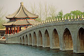 serene stock photography | China, Beijing, Summer Palace, 17 Arch Bridge and Kunming Lake, image id 4-173-24