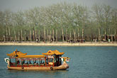lakeside stock photography | China, Beijing, Summer Palace, boat on Kunming Lake, image id 4-174-36